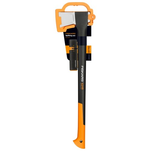 Фото - Колун FISKARS Х21 + точилка черный/оранжевый топор колун fiskars х17 1570гр фиберглассовая ручка точилка