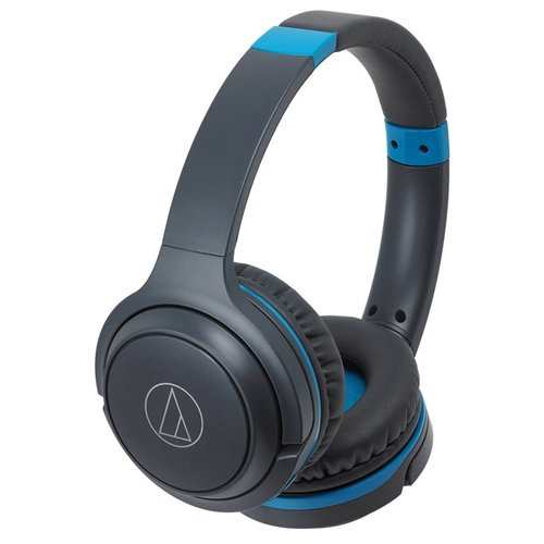 Наушники Audio-Technica ATH-S200BT черный/синий наушники audio technica ath s200bt grey blue