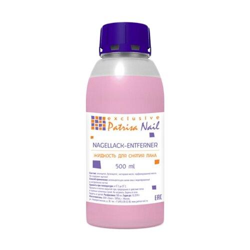 Patrisa Nail Жидкость для снятия лака без ацетона 500 мл patrisa nail масло для кутикулы амаретто 78 мл