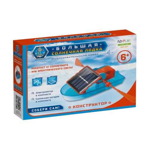 Электромеханический конструктор ND Play На солнечной энергии 273875 Большая солнечная лодка конструктор nd play nd play mp002xu02g2q