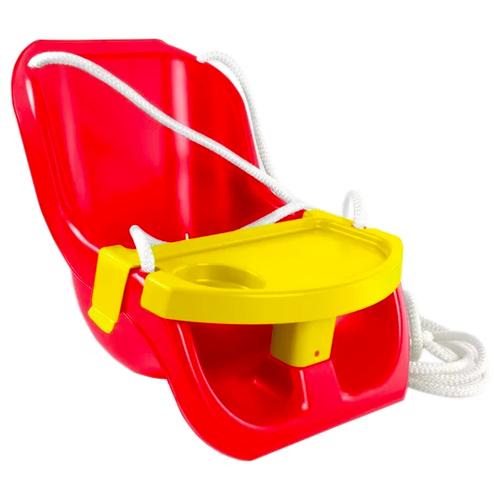 ZEBRATOYS Качели детские со столиком красный