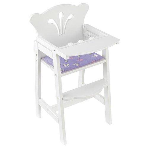 KidKraft Стульчик для кормления (61101) белый стульчик для кормления babys piggy розовый