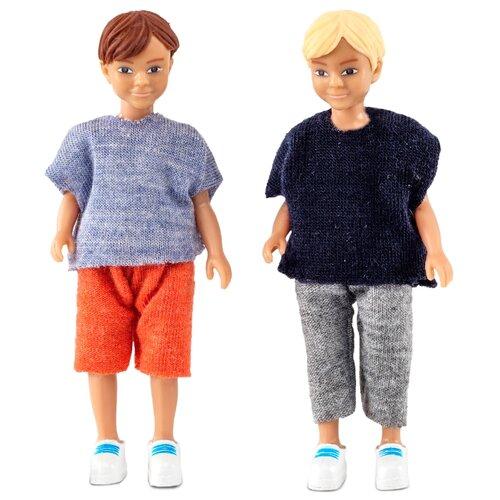 Фото - Куклы для домика Lundby Два мальчика, 60806500 мебель для куклы lundby книжная полка