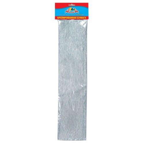 Купить Цветная бумага крепированная Серебряная Апплика, 50х250 см, 1 л., Цветная бумага и картон
