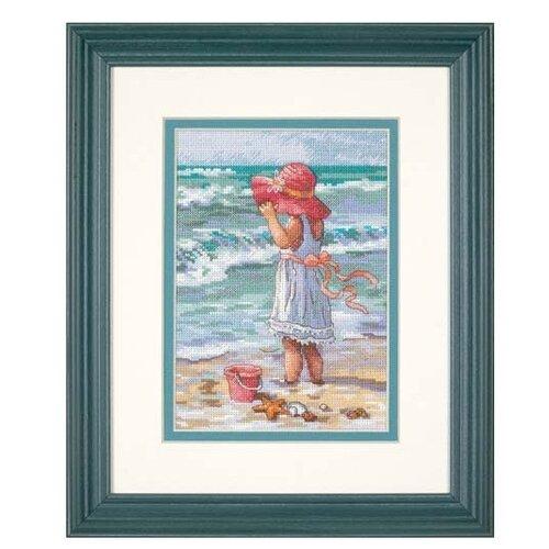 Dimensions Набор для вышивания крестиком Девочка на берегу 13 х 18 см (65078) dimensions набор для вышивания морские сокровища 20 х 10 см 65035