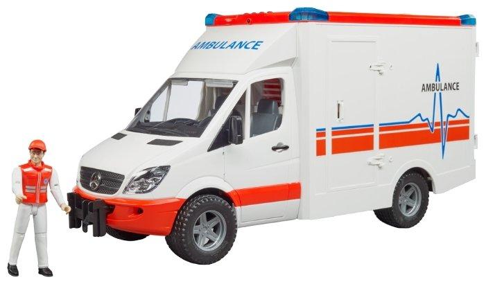 Bruder Mercedes-Benz Sprinter скорая помощь с фигуркой водителя 02-536