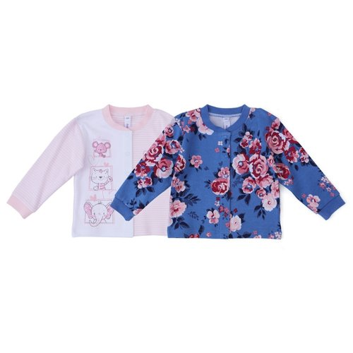 Распашонка playToday размер 74, белый/розовый/синий
