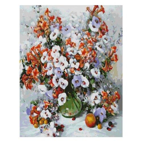Белоснежка Картина по номерам Городские цветы 40х50 см (018-AB) картина по номерам белоснежка прыгающие карпы 005 ab