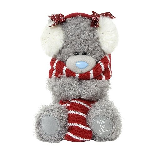 Купить Мягкая игрушка Me to you Мишка Тедди с шарфом и наушниками 17 см, Мягкие игрушки