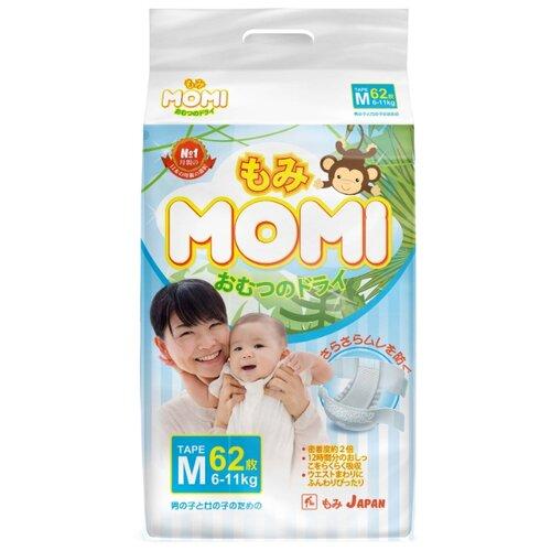 Momi подгузники M (6-11 кг.) 62 шт. momi трусики m 6 10 кг 44 шт