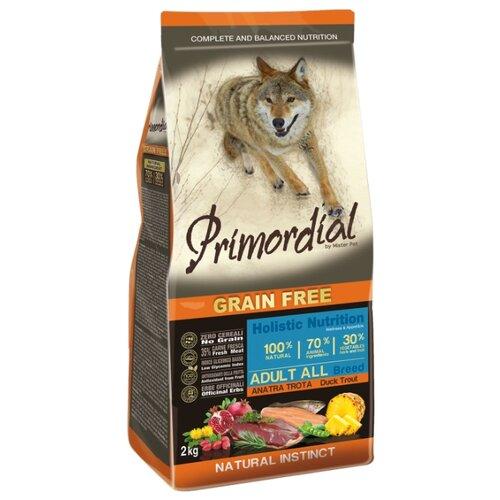 Корм для собак Primordial (2 кг) Adult All Breed Утка, форельКорма для собак<br>