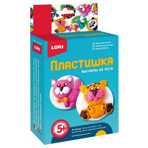 Купить Масса для лепки LORI Пластишка - Веселые котики (Пз-Т-002), Пластилин и масса для лепки