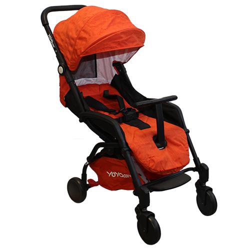 Купить Прогулочная коляска Yoya Care 2018 оранжевый/черная рама, цвет шасси: черный, Коляски