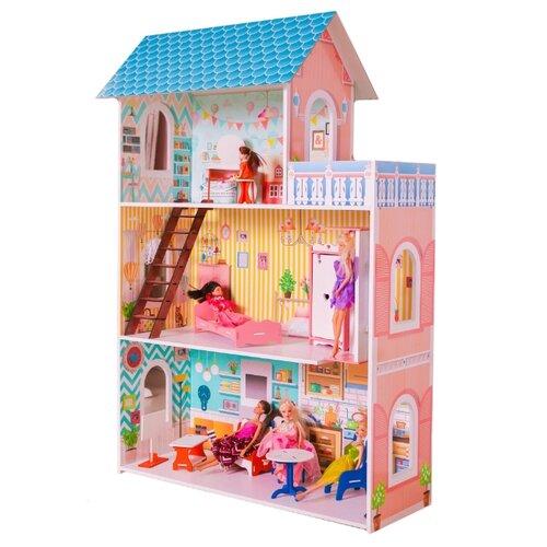 Купить SunnyToy кукольный домик Бирюзовый, розовый/голубой, Кукольные домики