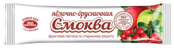 Смоква ЭКО пастила яблочно-брусничная 30 г