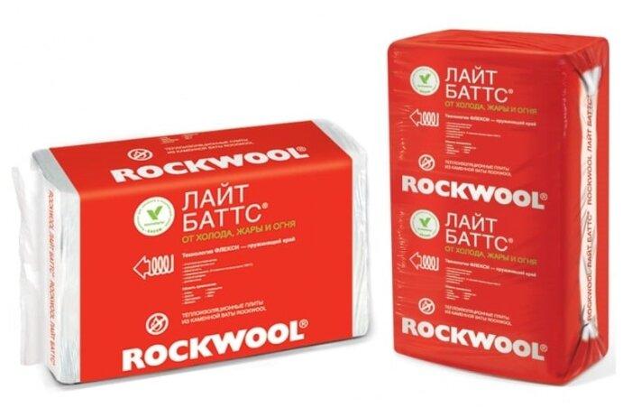 Каменная вата Rockwool Лайт Баттс 1000x600х50мм 10 шт