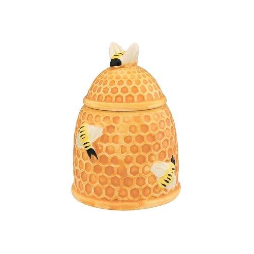 """Elan gallery Горшочек для меда """"Пчелки на сотах"""" 450 мл"""