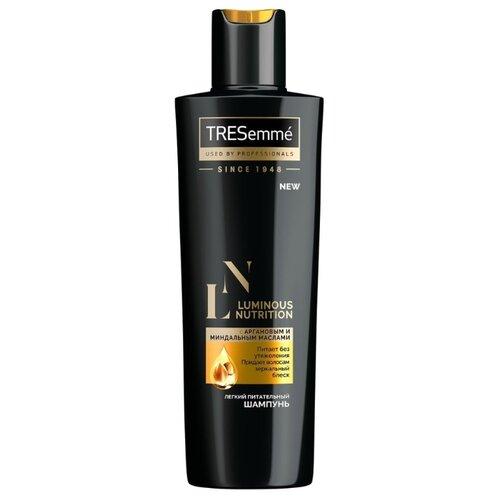 TRESemme шампунь Luminous Nutrition Легкий питательный с аргановым и миндальным маслами 230 млШампуни<br>