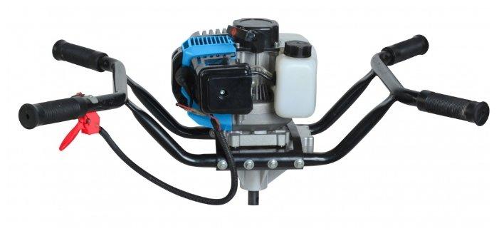 ББС-2030 Мотобур СОЮЗ объем двигателя 52 см3, мощн. 3,5лс, М = 120-150 Нм, стальн рама, 4 ручки