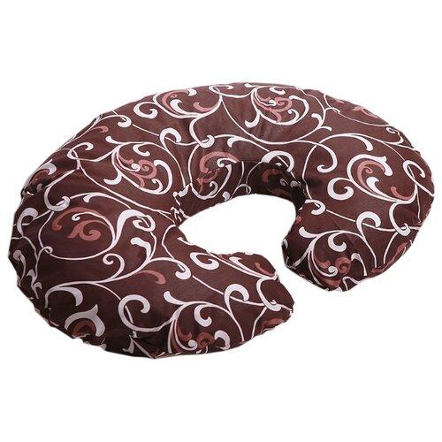 Наволочка Body Pillow на подушку для кормления Рогалик коричнево-бежевый
