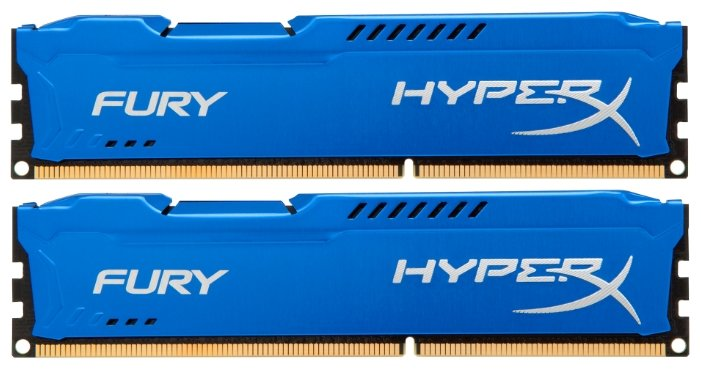 Модуль памяти Оперативная память 16Gb (2x8Gb) PC3-15000 1866MHz DDR3 DIMM CL10 Kingston HX318C10FK2/16 HyperX FURY Blue Series