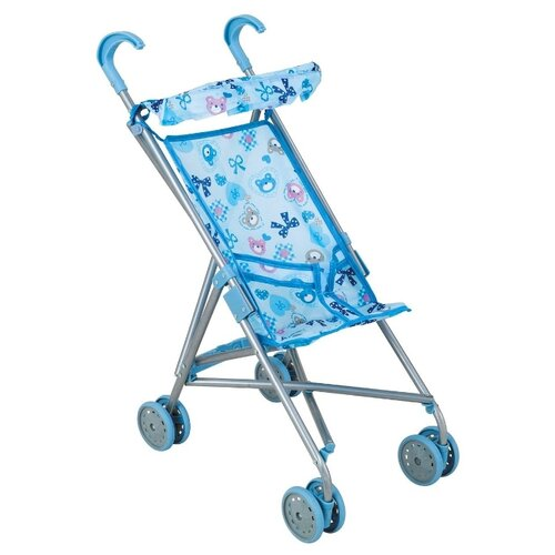 Купить Прогулочная коляска Buggy Boom Mixy 8004 голубой/бантик, Коляски для кукол