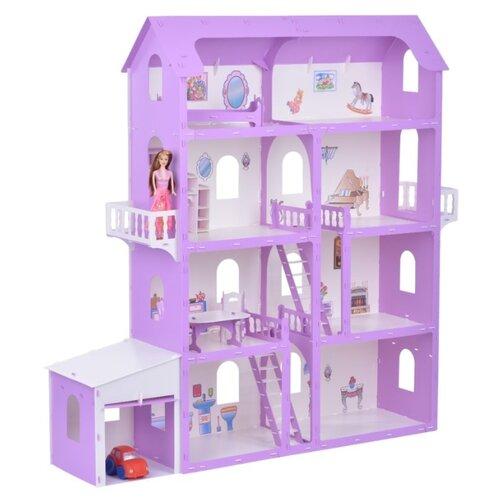 Купить KRASATOYS 000253, белый/сиреневый, Кукольные домики