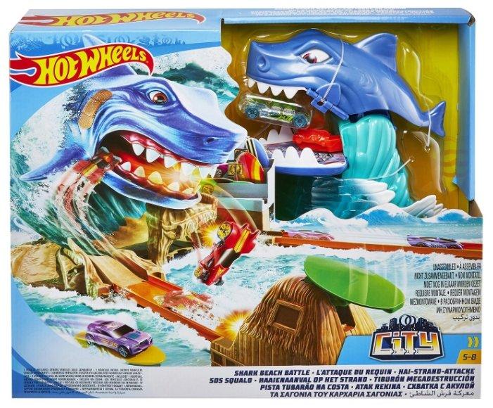 Трек Mattel Hot Wheels Схватка с акулой FNB21