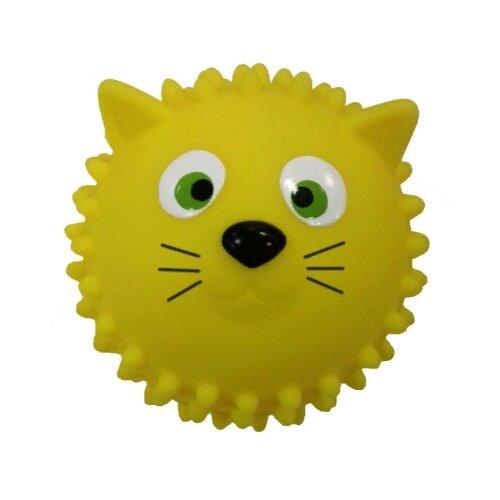 Мяч ЯиГрушка Кошка, 8.5 см, желтый