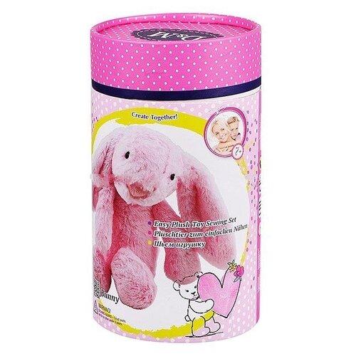 Купить D&M Шьем игрушку Зайчик Олли в подарочной упаковке (67609) розовый, Изготовление кукол и игрушек