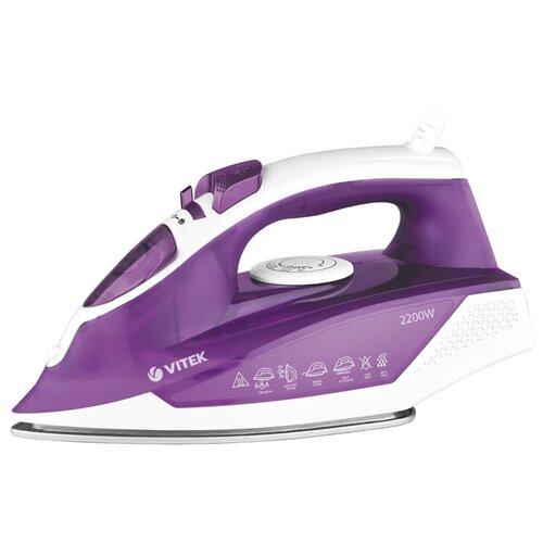 Утюг VITEK VT-8308 VT фиолетовый/белый отпариватель vitek vt 1287 vt белый фиолетовый
