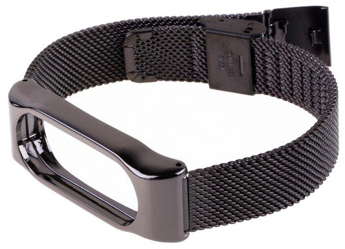 Металлический сменный браслет для Xiaomi Mi band 2 silver