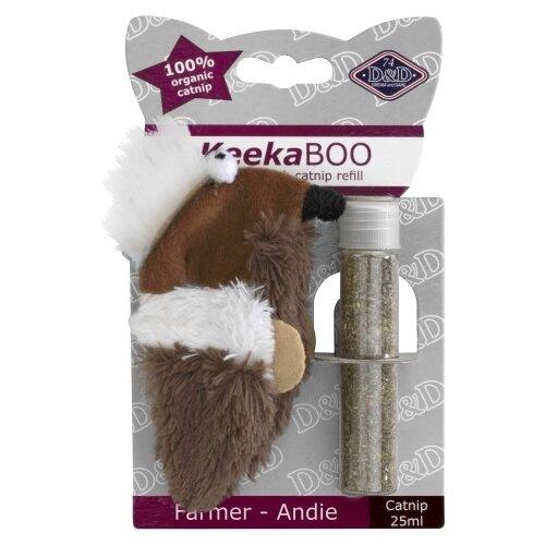 Набор игрушек для кошек D&D Farmer-Andie коричневый/белый