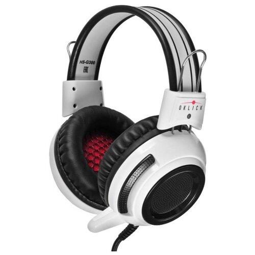Компьютерная гарнитура Oklick HS-G300 ARMAGEDDON черный/белый