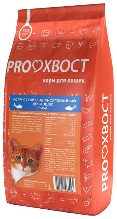 для кошек PROхвост Сухой корм с Рыбой