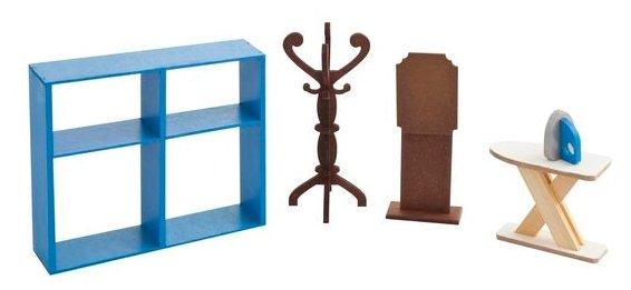 Купить PAREMO Набор мебели для гардеробной комнаты (PDA417-05) синий/коричневый по низкой цене с доставкой из Яндекс.Маркета (бывший Беру)