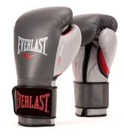 Боксерские перчатки Everlast Powerlock hook & loop navy/green 14 oz