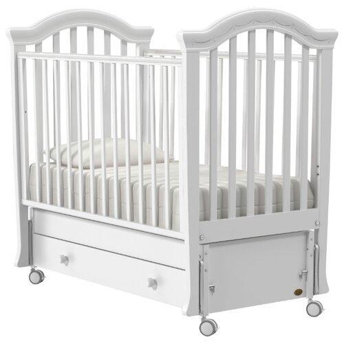Кроватка Nuovita Perla (качалка), продольный маятник белый кроватка гандылян дашенька колесо качалка белый