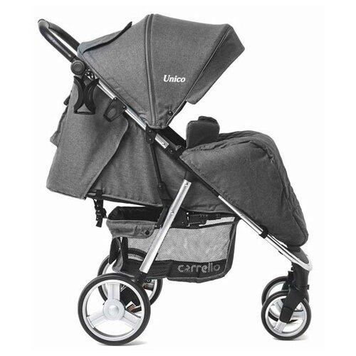 Прогулочная коляска CARRELLO Unico CRL-8507 storm gray, цвет шасси: серебристый
