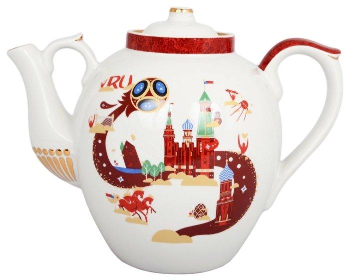 Дулёвский фарфор Заварочный чайник Русский 4,5 л свадебный