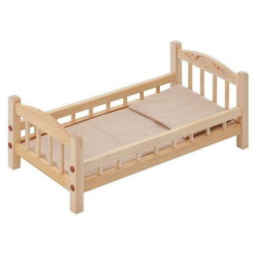 Купить PAREMO Кроватка для куклы с комплектом белья (PFD116-01) бежевый, Мебель для кукол