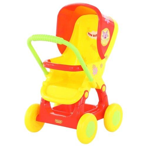 Купить Прогулочная коляска Полесье Три кота №2 71460 красный/желтый, Коляски для кукол