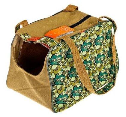 Переноска-сумка-фиксатор для собак Happy Puppy Boom 36х23х20 см синий