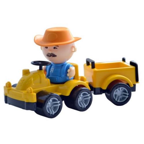 Купить Трактор Форма с прицепом и фигуркой (С-185-Ф) желтый, Машинки и техника