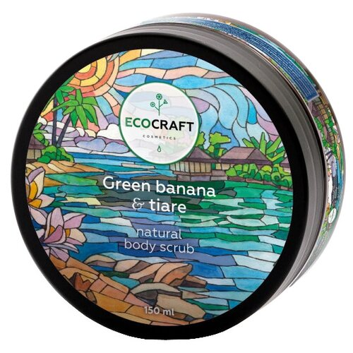 EcoCraft Скраб для тела Green banana and tiare, 150 мл