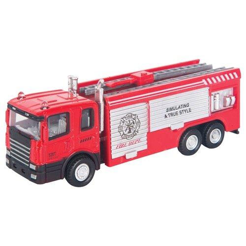 Купить Пожарный автомобиль Autogrand Junior Motors Fire Truck (34130) 1:48 красный/белый, Машинки и техника