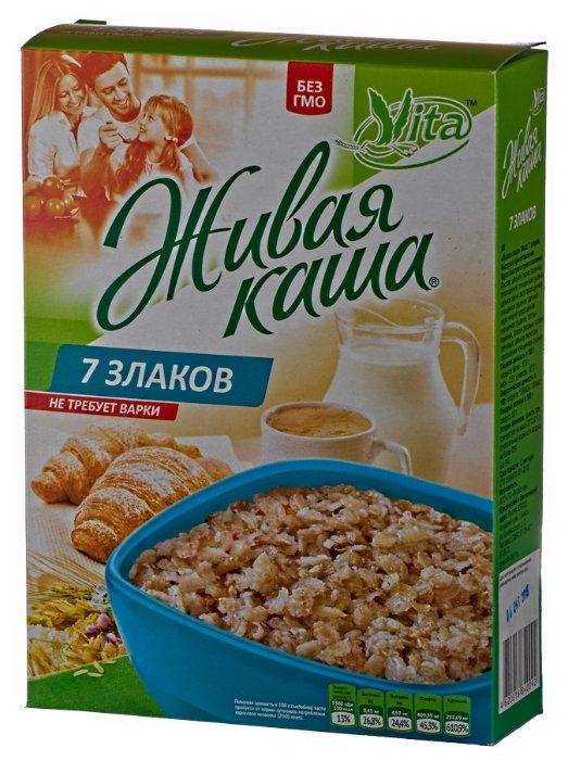 Живая каша Vita 7 злаков микс пророщенное зерно+хлопья 300гр кор (Vita живая каша)