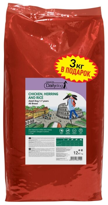 Корм для собак Dailydog Adult Chicken, Herring and Rice