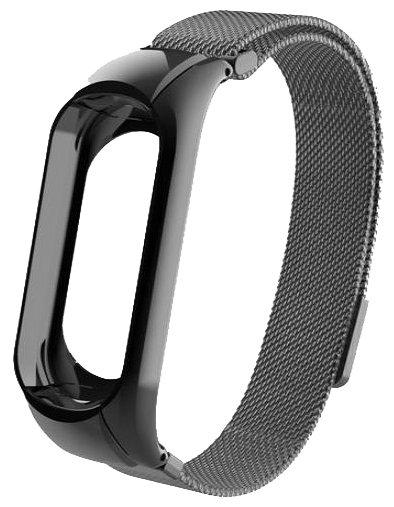 Миланский сетчатый браслет с магнитной застежкой для Xiaomi Mi Band 3 (Black)