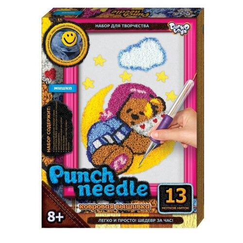 Купить Danko Toys Набор для творчества Ковровая вышивка Медвежонок 4 (PN-01-09), Наборы для вышивания